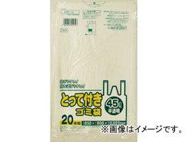 サニパック Y44Tとって付きゴミ袋半透明45L 20枚 Y44T-HCL(4693582) JAN:4902393559447
