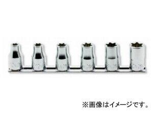 """コーケン/Koken 1/2""""(12.7mm) トルクスソケット(ナット用) レールセット 6ヶ組 RS4425/6-N"""