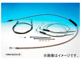 2輪 EASYRIDERS ケーブルKIT SD/1.1m ステンメッシュ 品番:H5545-ST JAN:4548632039785 HD ソフテイル/ダイナ 1996年〜