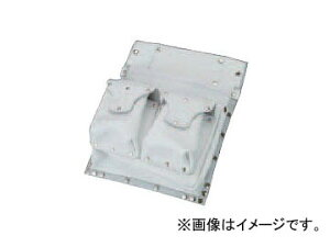コヅチ 鋲止仮枠釘袋 2段マチ付Wポケット付 SH-523 白 H360×W285mm JAN:4934053060673