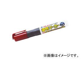 シンワ測定 工事用 油性マーカー 中字 丸芯 赤 78429 JAN:4960910784291