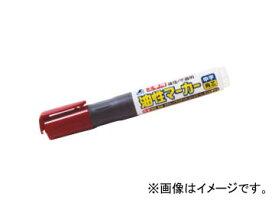 シンワ測定 工事用 油性マーカー 中字 角芯 赤 78431 JAN:4960910784314