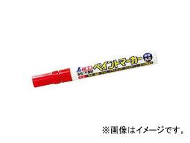 シンワ測定 工事用 ペイントマーカー 中字 丸芯 赤 78415 JAN:4960910784154
