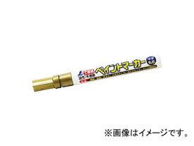 シンワ測定 工事用 ペイントマーカー 中字 丸芯 ゴールド 78420 JAN:4960910784208