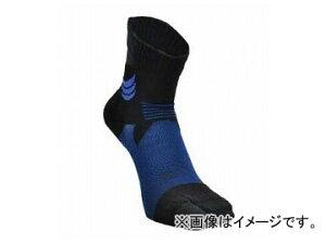 2輪 山城謹製 ハイグリップメッシュソックス[タビ] BLUE ミドル 選べる2サイズ YKS-002