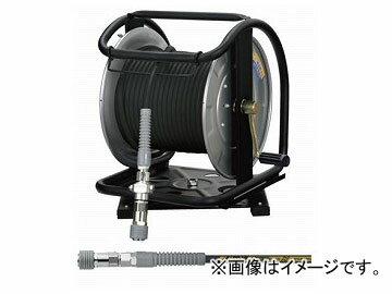 フジマック/FUJIMAC高圧用C型ドラム(スーパースムージーホース付)ロック一発カプラスチール回転台ブラック30mGHD-630TCJAN:4984546604402