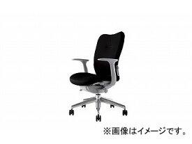 ナイキ/NAIKI リンカー/LINKER エネア 事務用チェアー ブラック ZE511F-BK 620×590×900〜985mm