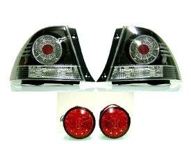 送料無料 トヨタ アルテッツァ 10 系 GXE10 SXE10 LED テールランプ & レッド LED トランクゲート テール 左右 4点 セット テールライト