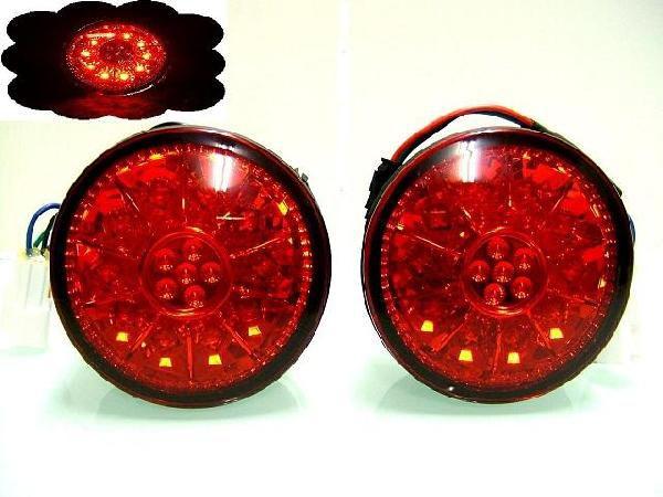 送込 トヨタ アルテッツァ 10系 LED 丸灯 レッド テール ランプ