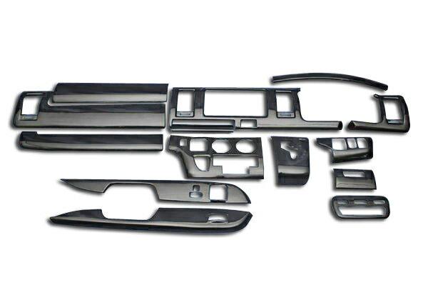 シルクウッド 3D インテリア パネル 14ピース 200系 ハイエース 1型,2型 標準
