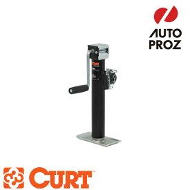 [CURT 正規品] パイプマウントスウィベルジャッキ サイドハンドル 耐荷重2000LB ストローク10インチ メーカー保証付