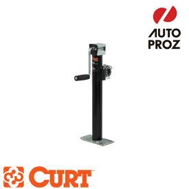 [CURT 正規品] パイプマウントスウィベルジャッキ サイドハンドル 耐荷重2000LB ストローク15インチ メーカー保証付