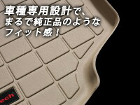 [Weathertech正規品]トヨタアクア2012-2014年式フロアマット/フロアライナー2列目