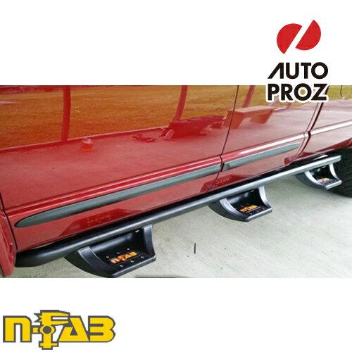 【USエヌファブ 直輸入正規品】 n-Fab フォード F250/F350 Super Duty スーパークルー 8フィートベッド ダブルタイヤに適合 2017年式 N-Duraステップ ベッドアクセス ツヤありブラック