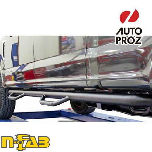 【USエヌファブ 直輸入正規品】 n-Fab フォード F250/F350 Super Duty スーパークルー 8フィートベッド シングルタイヤに適合 2017年式 ナーフステップ ツヤありブラック