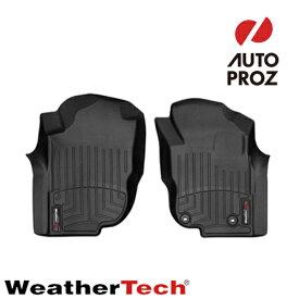 [WeatherTech 正規品] トヨタ ハイラックス 2006-2015年式 1列目 右ハンドル用 フロアマット/フロアライナー ブラック