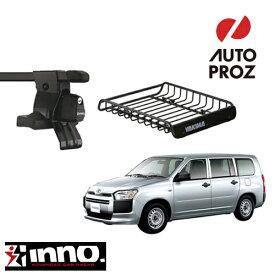[正規輸入品] トヨタ プロボックス/サクシード 2002年式以降現行 INNOベースラック YAKIMAロードウォーリアー セット