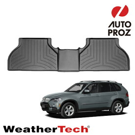 [WeatherTech 正規品] BMW X5 2007-2013年式 E70に適合 2列目フロアマット/フロアライナー ブラック