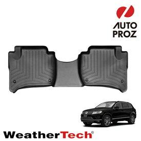 [WeatherTech 正規品] フォルクスワーゲン トゥアレグ 2010年式以降現行 フルオートエアコンなし車両 2列目フロアライナー ブラック