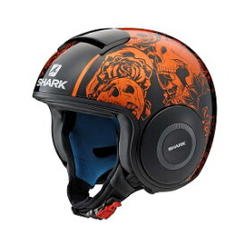SHARK DRAK Graphic YAMAHA ジェットヘルメット BLACK&ORANGE M