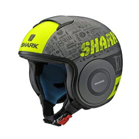 SHARK DRAK Graphic YAMAHA ジェットヘルメット SILVER&YELLOW XL