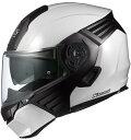 オージーケーカブト(OGK KABUTO)バイクヘルメット システム KAZAMI ホワイトメタリック/ブラック XLサイズ
