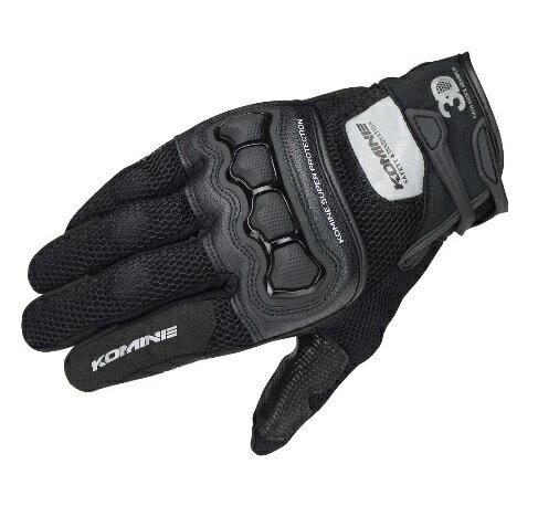 コミネ(KOMINE) GK-215 プロテクト3Dメッシュグローブ3D Black Lサイズ