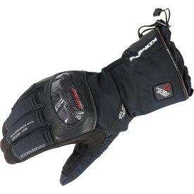 コミネ KOMINE バイク カーボンプロテク トエレクトリックグローブ 手袋 電熱 発熱 防寒 BLACK XL 08-200 EK-200