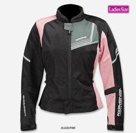 コミネ(KOMINE) JK-117 プロテクトフルメッシュジャケット-ジモン Black/Pink WSサイズ