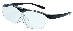 拡大鏡 ルーペ 老眼鏡 SMARTEYE ハネアゲルーペ メガネ型ルーぺ 1.6倍 跳ね上げ 跳ね上げ式 ブルーライトカット フチなし 折りたたみ 折り畳み 読書 軽い 日本製 おしゃれ 読書用 メイク 携帯 ス