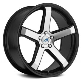 2CRAVE MACH5 Glossy/Machined Face/Glossy Black Lip 16x7J Offset +45 PCD 4x100 ハブ径 72mm ホイール4本セット