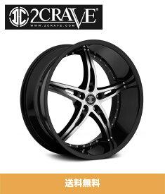 2CRAVE NO.14 Black Diamond 22x8.5J Offset 38 PCD 5x114.3 ホイール4本セット (送料無料)