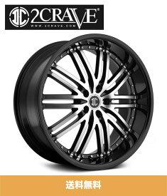 2CRAVE ツークレーブ NO.22 Black Machined ブラックマシンド 22x9J Offset 35 PCD 5x120 ホイール4本セット (送料無料)