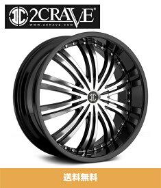 2CRAVE No.1 GlossyBlack/Machined Face 16x7J Offset +45 PCD 4x100 ハブ径 72mm ホイール4本セット (送料無料)
