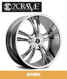 2CRAVE NO.2 Chrome 18x7.5J Offset +40 Bolt 5x100/112 ホイール4本セット (送料無料)