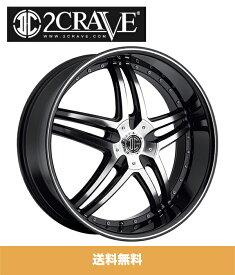 2CRAVE No.17 Black Diamond 18x7.5J Offset +45 PCD 4x100 ハブ径 74mm ホイール4本セット (送料無料)