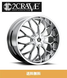 2CRAVE No.9 Chrome 20x8J Offset +40 PCD 5x108/114.3 ハブ径 74mm ホイール4本セット (送料無料)