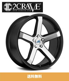 2CRAVE MACH5 Glossy/Machined Face/Glossy Black Lip 16x7J Offset +45 PCD 4x100 ハブ径 72mm ホイール4本セット (送料無料)