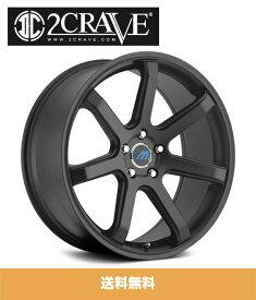 2CRAVE MACH7 Satin Black 19x8.5J Offset +35 PCD 5x114.3 ハブ径 72.56mm ホイール4本 (送料無料)
