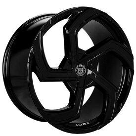 Lexani Swift Gloss Black 18 x 8J PCD: 5-114.3 Offset 40 ホイール4本 レクサーニスウィフトグロスブラック