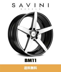 SAVINI サビーニ BM11 Black Di Forza ブラックディフォーザ Black Machined ブラックマシンド 22x9J オフセット35 PCD 5x114.3 ホイール4本セット (送料無料)