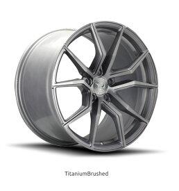 ロマノRFR02(ROMANO RFR02) 20x9J Titanium Brushed/チタニウムブラッシュ色ブランクホイール4本セット (送料無料)
