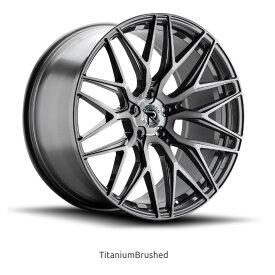 ロマノRFR03(ROMANO RFR03) 20x9J Titanium Brushed/チタニウムブラッシュ色ブランクホイール4本セット (送料無料)