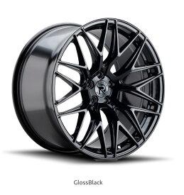 ロマノRFR03(ROMANO RFR03) 20x9J Gloss Black/グロスブラック色ブランクホイール4本セット (送料無料)