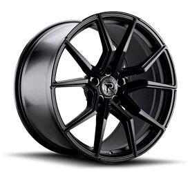 ロマノRFR02(ROMANO RFR02) 20x9J Matte Black マットブラックカラーブランクホイール4本セット (送料無料)