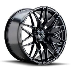 ロマノRFR03(ROMANO RFR03) 20x8.5J フロント 20x10J リア Gloss Black/グロスブラック色ブランクホイール4本セット (送料無料)