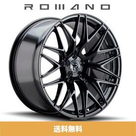 ロマノRFR03(ROMANO RFR03) 19x8.5J フロント 19x9.5J リア Gloss Black/グロスブラック色ブランクホイール4本セット (送料無料)