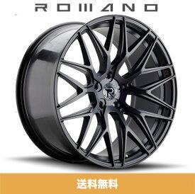 ロマノRFR03(ROMANO RFR03) 19x8.5J フロント 19x9.5J リア Matte Black/マットブラック色ブランクホイール4本セット (送料無料)