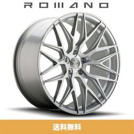 ロマノRFR03(ROMANO RFR03) 19x8.5J Matte Silver Brushed/マットシルバーブラッシュ色ブランクホイール4本セット (送料無料)