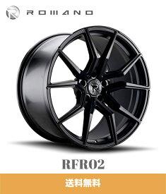 ジープ グランドチェロキー用 ロマノ RFR02 22x10.5J PCD 5x127 マットブラック ROMANO RFR02 22X10.5 5/127 MATTE BLACK ホイール4本セット (送料無料)